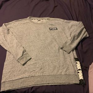 Victoria secret pink grey marl sweatshirts L